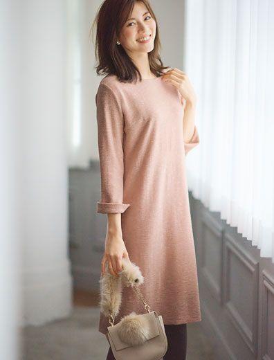 ニット風ジャージーワンピース | レディースファッション通販サイトFABIA(ファビア)