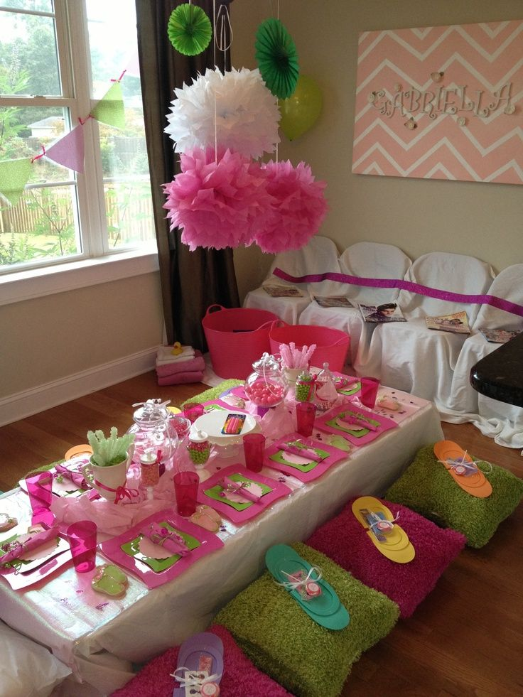 Spa Party Ideas For Girls | My daughters spa party!