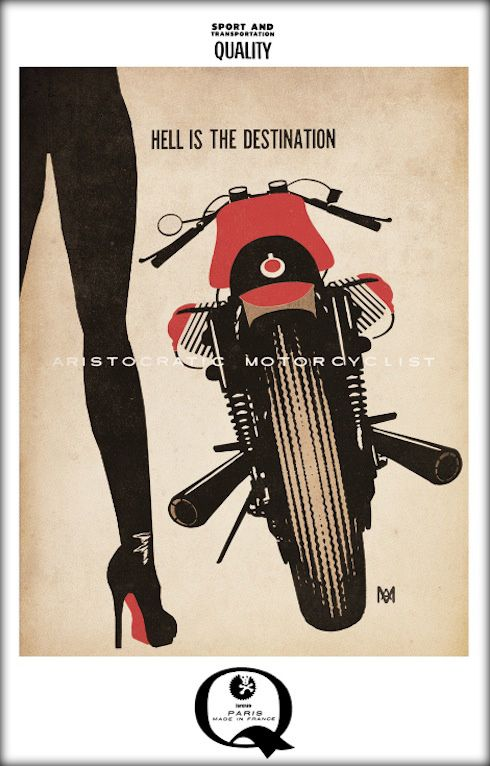 The Aristocratic Motorcyclist...   Inazuma café racer