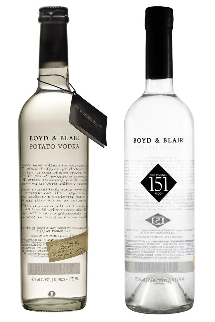 Boy and Blair's Potato vodka and Professional 151