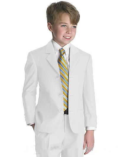 High Quality Three Buttons Boy Tuxedos Notch Lapel Children Suit White Kid Wedding/Prom Suits Long Evening Gowns Page Boy Suits From Halibote777, $67.02| Dhgate.Com