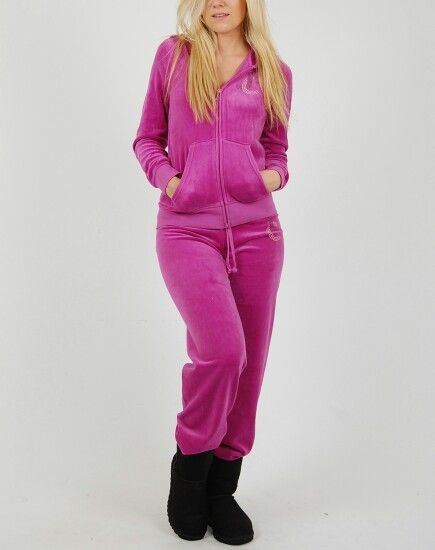Pink velour tracksuit from juicy
