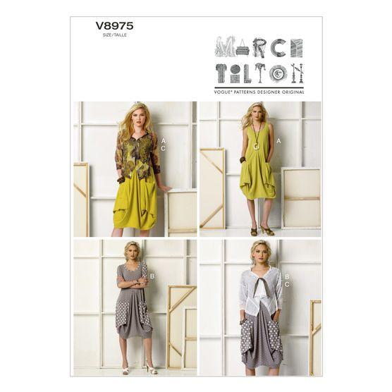 Mccall Pattern V8975 Xs-S-M -Vogue Pattern