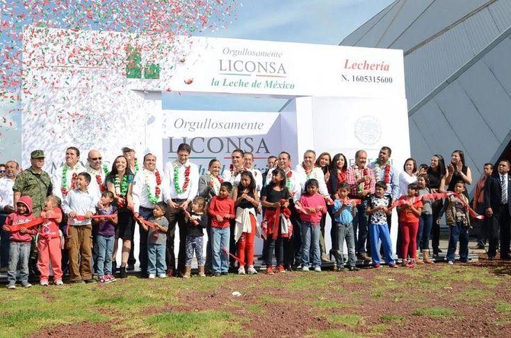 Se inauguró en Morelia la lechería LICONSA número 400, misma que tuvo como testigos a más de 7 mil beneficiarios de dicho programa y estuvo presidida por el Secretario de ...