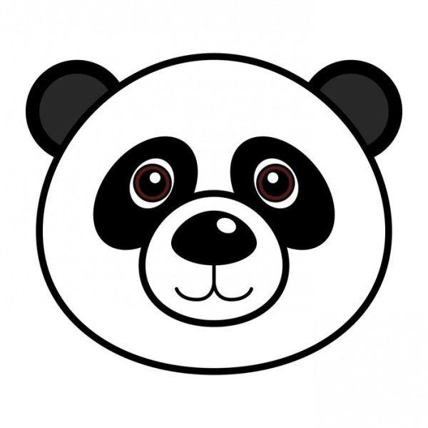 Face Panda Bear Halaman Mewarnai Beruang Panda