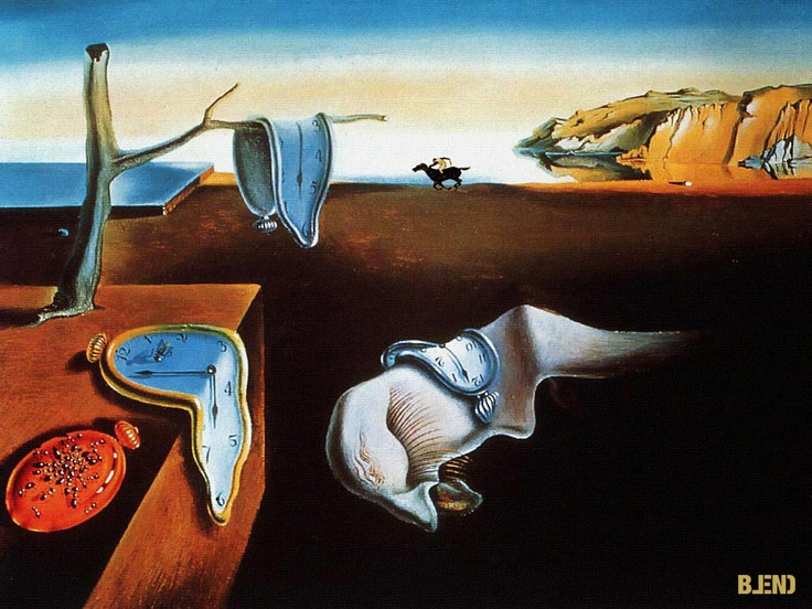 Salvador #Dalì & Rene #Magritte | Soft watches & The jockey lost.  #art #paintings #blend