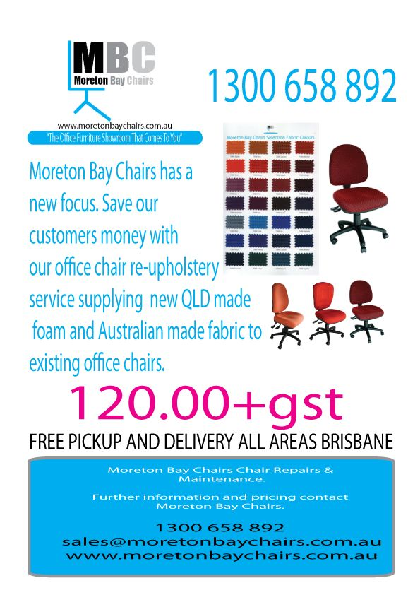 MBC OFFICE CHAIR RE-UPHOLSTERY SERVICE WITH FREE PICK AND DELIVERY