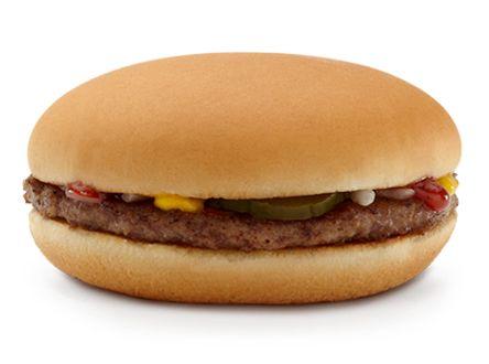 230 calories no ketchup mcdonalds Hamburger