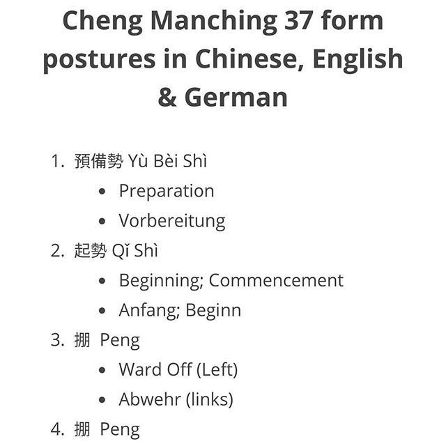 New On Qialance A Lost Of All The Moves Of The Cheng Manching