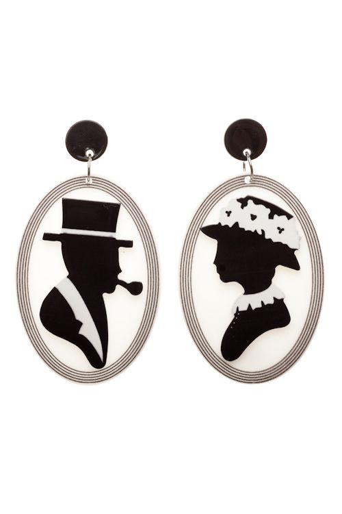 Erstwilder Edgar And Isabella Earrings