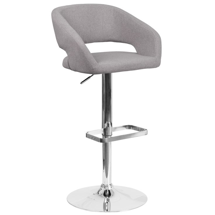 Contemporary Adjustable Height Barstool with Chrome Base | Overstock.com Shopping - The Best Deals on Bar Stools