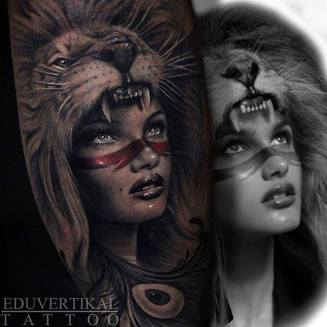 Best 25 headdress tattoo ideas on pinterest native for Aztec lion tattoo meaning