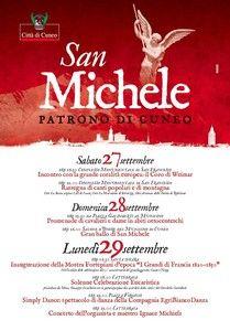 Programma festeggiamenti per San Michele, Patrono di Cuneo http://www.comune.cuneo.gov.it/news/dettaglio/periodo/2014/09/25/programma-festeggiamenti-per-san-michele-patrono-di-cuneo.html