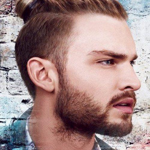 Trend Männer Frisuren Zopf Undercut