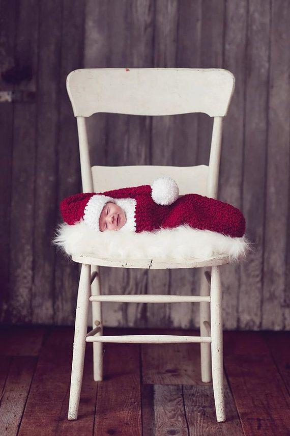 Chapeau de père Noëlchapeau de bébé nouveau-né par YarnyThingys