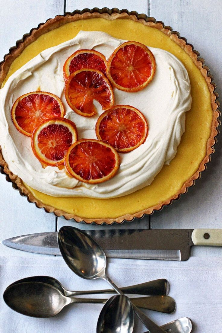 Milk and Honey: Blood Orange and Ricotta Tart. I'm so annoyed at how good this looks, considering I'm trying to get off sugar.