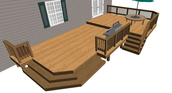 41 best images about deck ideas on pinterest deck for Free elevated deck plans