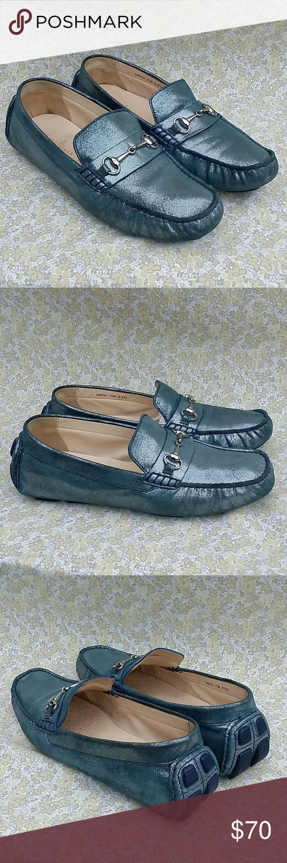 Cole Haan Glittery Driver Loafers Size 7.5 Cole Haan Glittery Driver Loafers Size 7.5 Light Ware Cole Haan Shoes Flats & Loafers