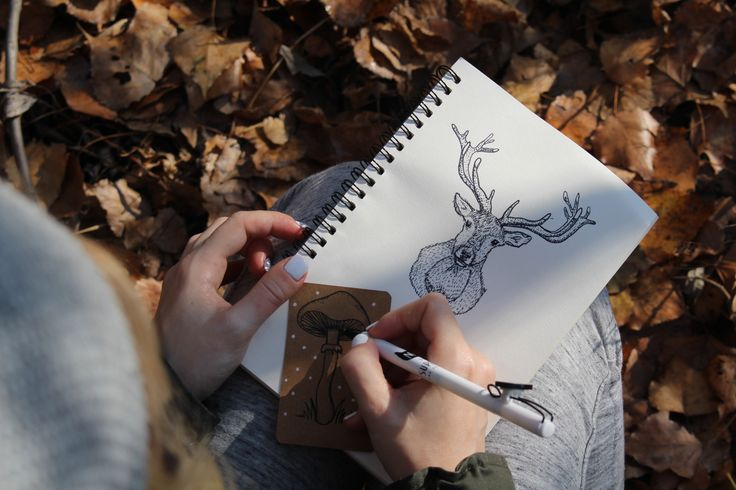 deer and mushroom