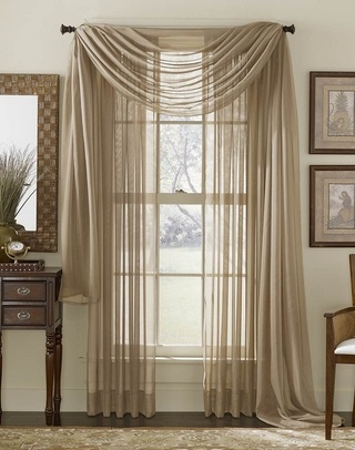 Platinum Voile Sheer  Curtain Panel - Clearance