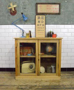 Vintage Wooden Glazed School Cabinet | lovelitter.co.uk | Warehouse Home Design Magazine