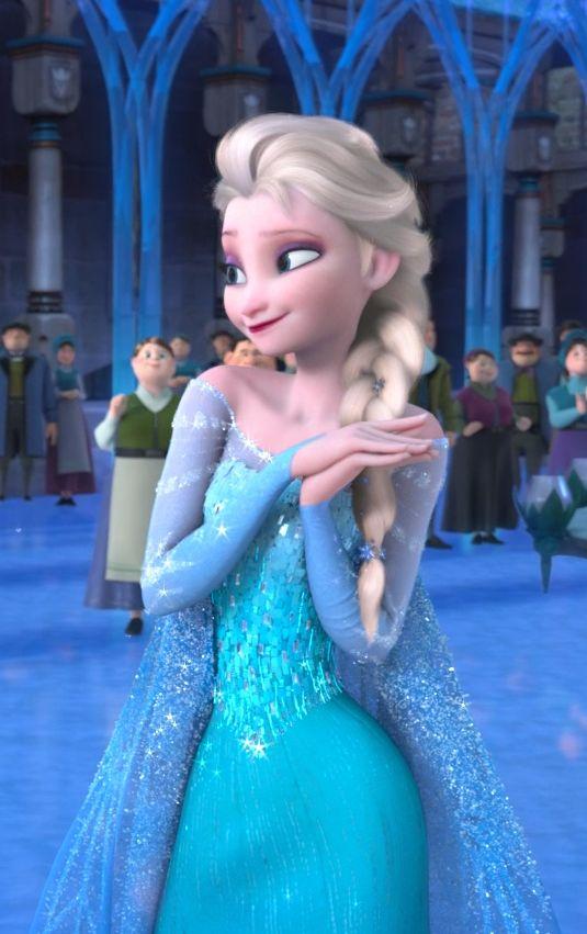 Elsa looks very pleased.