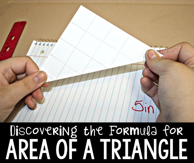 Help your students remember the formula for area of a triangle but discovering it for themselves!  Check out this interactive, student-led lesson from The Primary Gal.