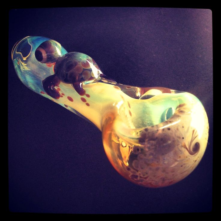 Turtle Critter Hand Blown Glass Pipe by BoGlass on Etsy, $32.00