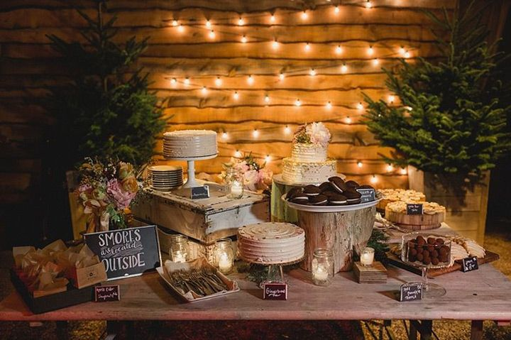 Rock'n Rustic Wedding Dessert Tables & Displays ~ we ❤ this! moncheribridals.com