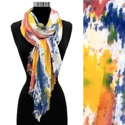 Yellow Hand Painted Bamboo Fashion Scarf $23.00