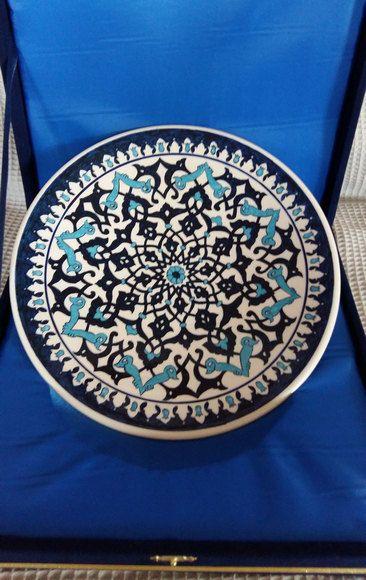 Turkish ottoman handmade iznik tile by nurceramicarts on Etsy