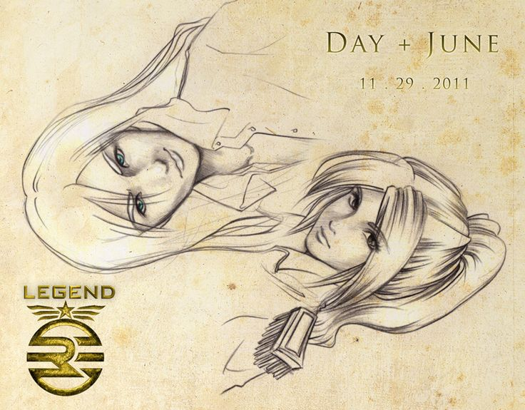 Sketch of Day and June.