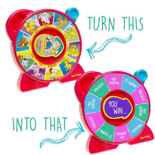 See and Say toy converted into a party game spinner.