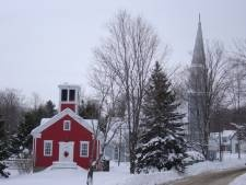 winter scene in Georgeville