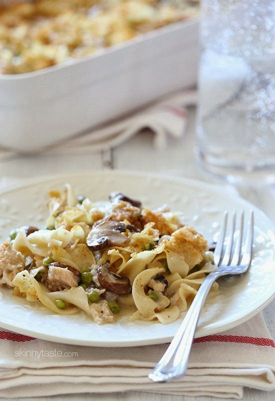 This Skinny Tuna Noodle Casserole does not use the canned soup which ...