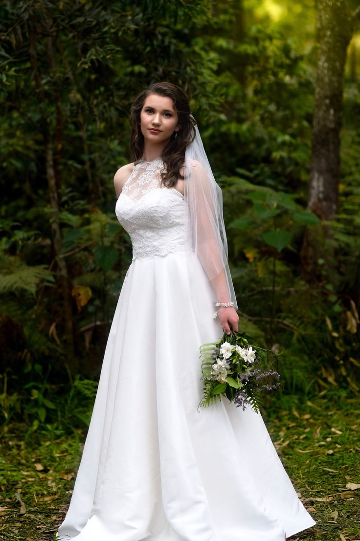 Iris Bridal gown 2017 Bridal collection by Melanie Jayne. Light Silk and lace two piece gown, High neck and open back. Made in Australia by Melanie Jayne