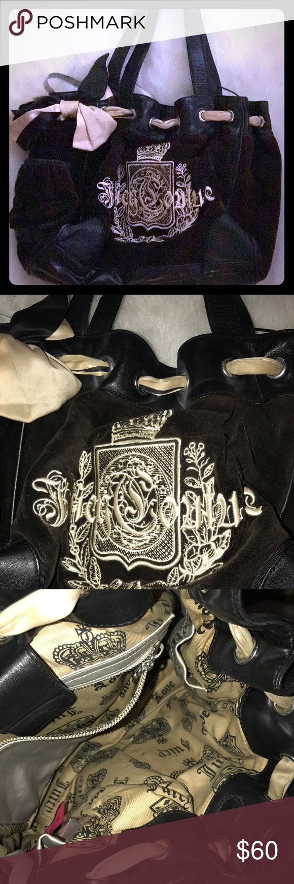 Authentic juicy couture handbag This handbag is so cute I used to love it so much I am cleaning out my closet someone should put it to good use Juicy Couture Bags Totes