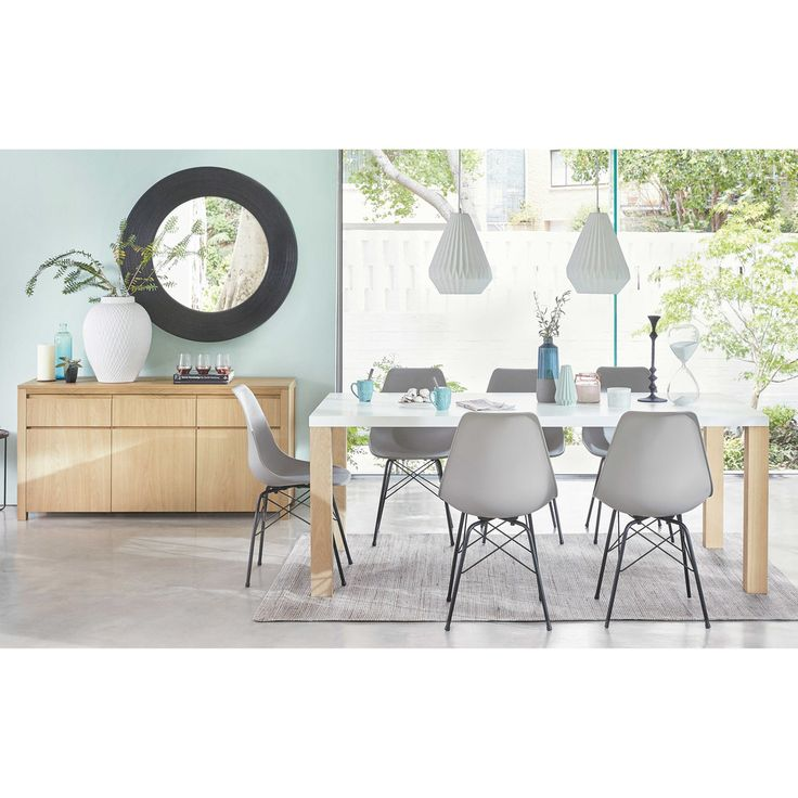 Wooden Dining Table In White W 200cm