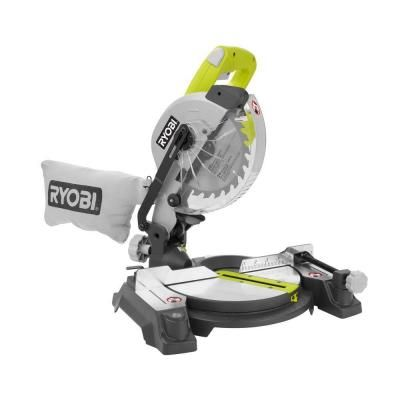 Ryobi 9-Amp 7-1/4 in. Compound Miter Saw with Laser-TS1143L - The Home Depot