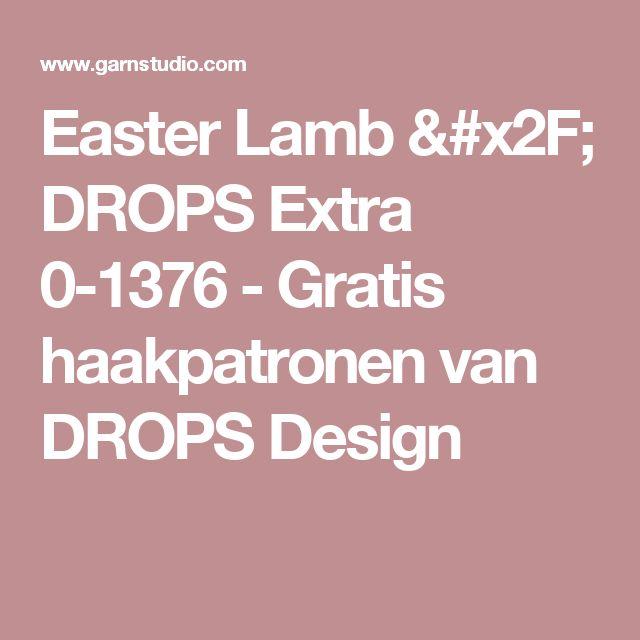 Easter Lamb / DROPS Extra 0-1376 - Gratis haakpatronen van DROPS Design