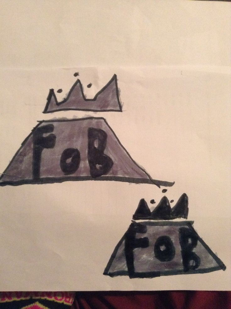 Witch fall out boy symbol do you guys like I free handed these I was so shocked on how good they actually Look
