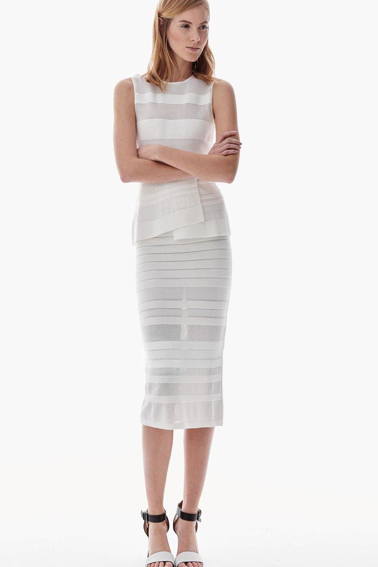 Falda tipo tubo en punto | Adolfo Dominguez shop online