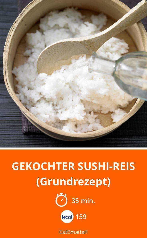 Gekochter Sushi-Reis - (Grundrezept) - smarter - Kalorien: 159 Kcal - Zeit: 35 Min.   eatsmarter.de