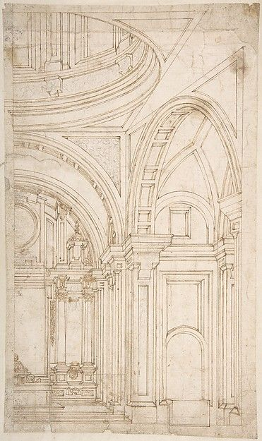 Rosamaria G Frangini | Architecture | Art Drawings | Design for the Interior of the East End of a Church