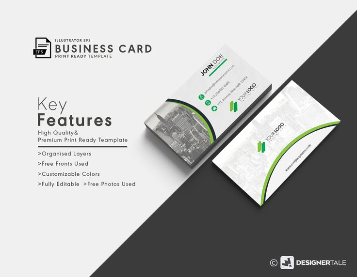 The 13 best business card templates free vector psd print ready city skyscraper vector visiting card reheart Images