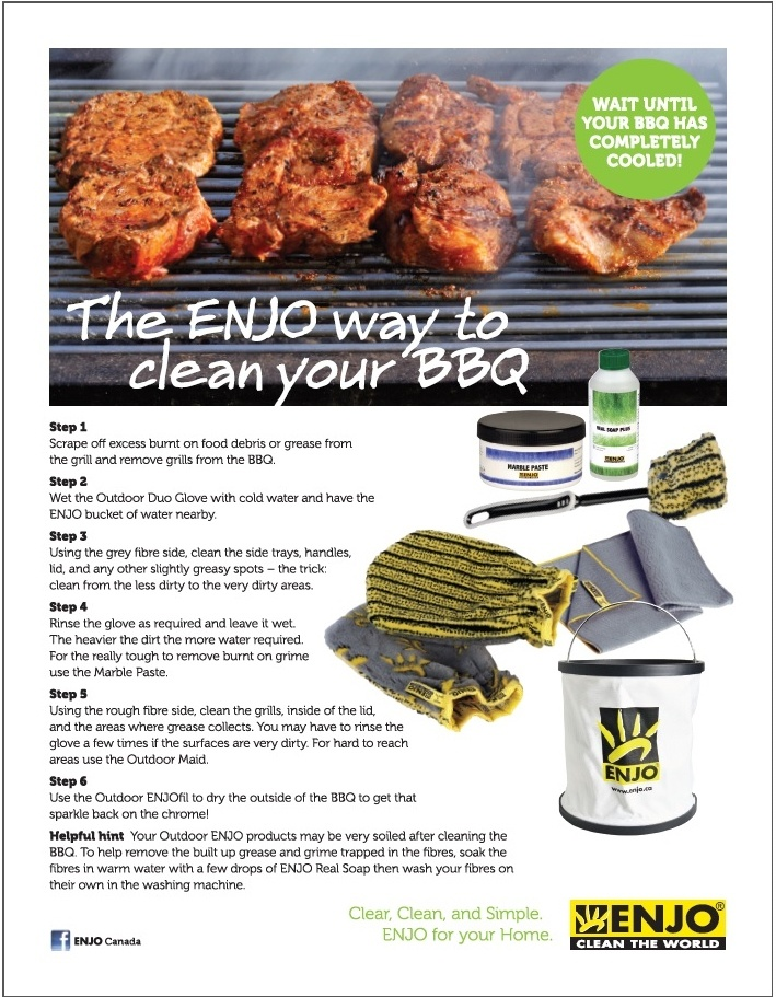 The ENJO way to a clean BBQ!