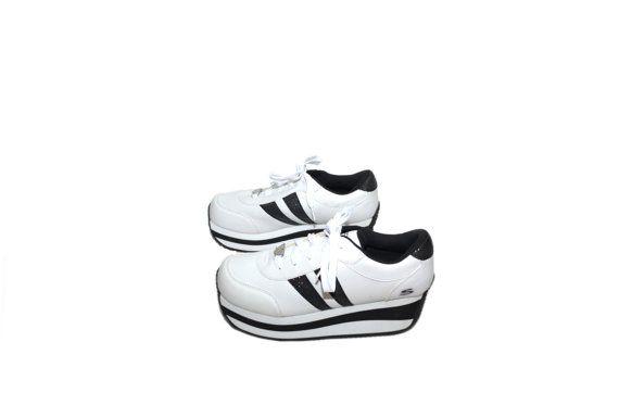 Platform Sneakers Skechers Sneakers White by founditinatlanta