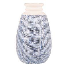 vase textured blue