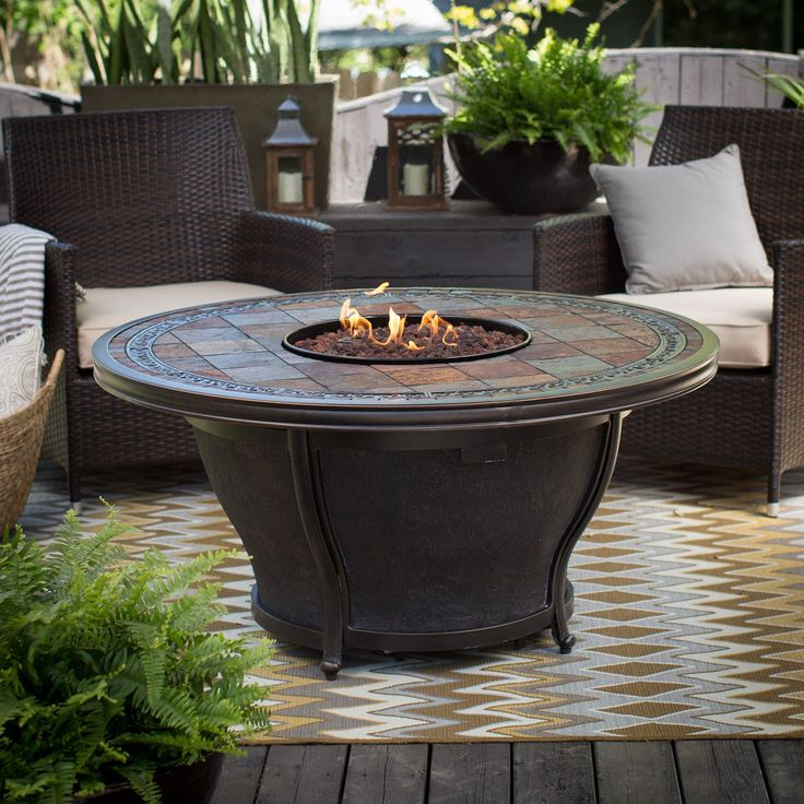 Agio Tempe 48 in. Round Fire Pit Table with FREE Cover - AGIO013