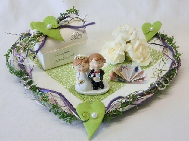 Geldgeschenke - Luxus Geldgeschenk Herz **Geschenk**für Hochzeit - ein Designerstück von Festtags-Shop bei DaWanda